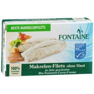 Makrelen Filet in Tomaten-Curr
